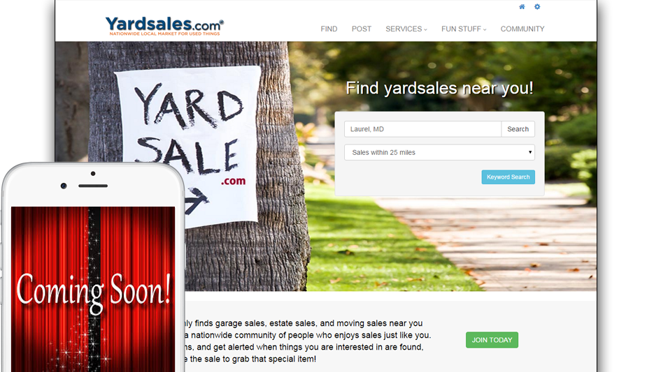 Advertise Garage Sales and Find Yard Sale Tips and Ideas